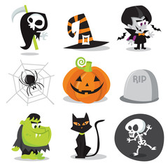 Halloween Characters and Objects