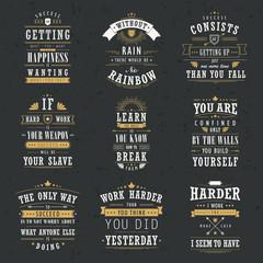 success motivational and inspirational quotes set