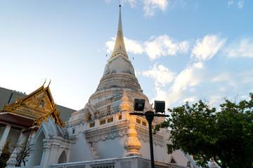 Main church and white pagoda of Wat Pathum, Bangkok