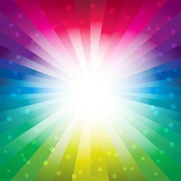 Color Spectrum Starburst Bubbles Background