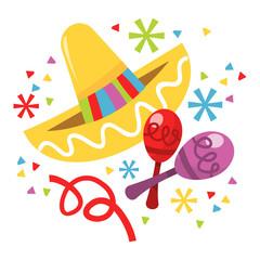 Mexican Sombrero Maraca