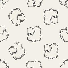 internet cloud doodle drawing