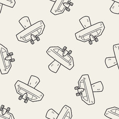sink doodle seamless pattern background
