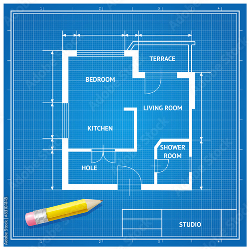 Vector furniture architect blueprint background flat design stock vector furniture architect blueprint background flat design malvernweather Choice Image