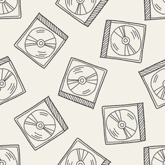 dvd doodle seamless pattern background