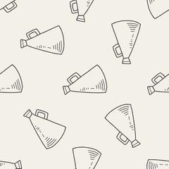 loudspeaker doodle seamless pattern background