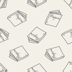 magazine doodle seamless pattern background