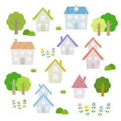 家の素材セット / vector eps10
