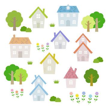 家の素材セット / vector eps