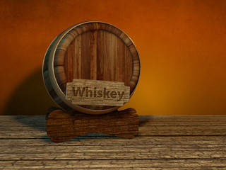 Whiskeyfass Whiskey Fass Holzfass rustikal