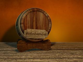 Weinhandel Fass Weinfass Holzfass rustikal Wein