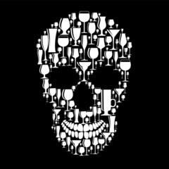Skull Sign Vector Illustration