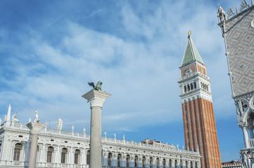 Fototapete - The Campanile di San Marco in Venice, Italy.