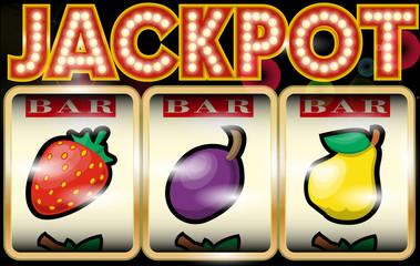 Slot Machine Illustration Jackpot