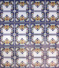 Wall Mural - ceramic tile in Lisbon street, Portugal.