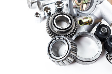 Car engine parts isolated