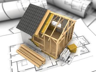 frame house plan