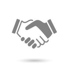 flat handshake icon background