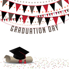 Graduation Day background EPS 10 vector