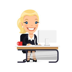 Business Lady at Her Desk