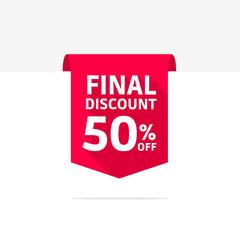 Final Discount 50% Off Long Shadow Ribbon