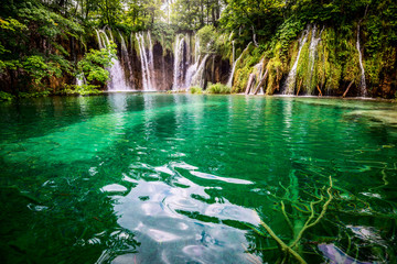 Foto op Canvas Watervallen Plitvicka jezera national park Croatia