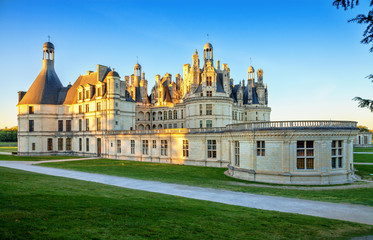The royal Chateau de Chambord, France. This castle is located in
