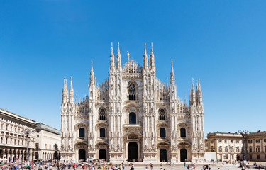 The cathedral Duomo in Milan, Italy.