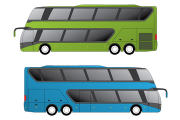 Double decker coaches