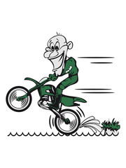 Printed kitchen splashbacks Newspapers Motorcycle water fun