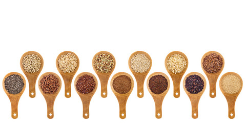 gluten free grains and seeds  abstract