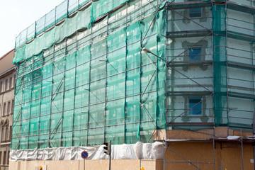 Scaffolding / Scaffolding on a building facade