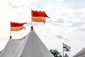 Fête médiévale les tentes