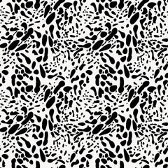 Black And White Animal Skin Imitation Seamless Pattern