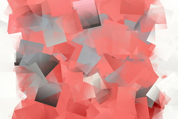 Mosaik in rot und weiß, Kubismus