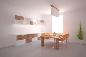 white 3d interior