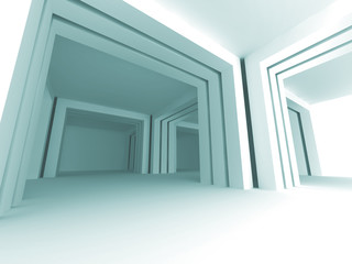 White Architecture Columns Abstract Background
