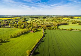 Papiers peints Vignoble Agriculture Fields Aerial View
