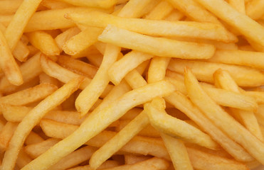 French fries background