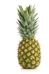 Whole pineapple fruit on white background