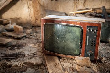 Obraz stary telewizor - fototapety do salonu