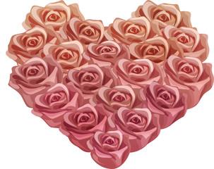 Vintage Rose Heart