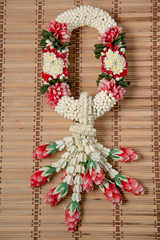Thai traditional craft flower garland