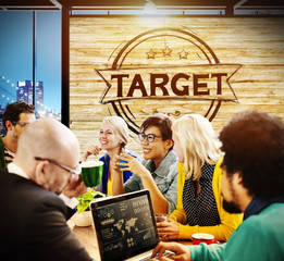 Target Goals Success Growth Strategy Concept