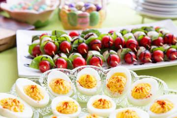 Easter appetizer food table