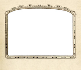 Old fashioned picture frame with white cut out.