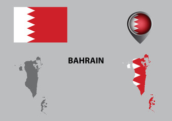 Map of Bahrain and symbol