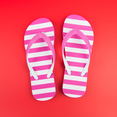 Pink striped sandal