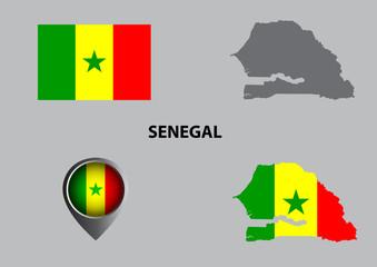 Map of Senegal and symbol