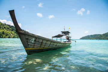 Long-Tailed Boat at Surin Island,Thailand